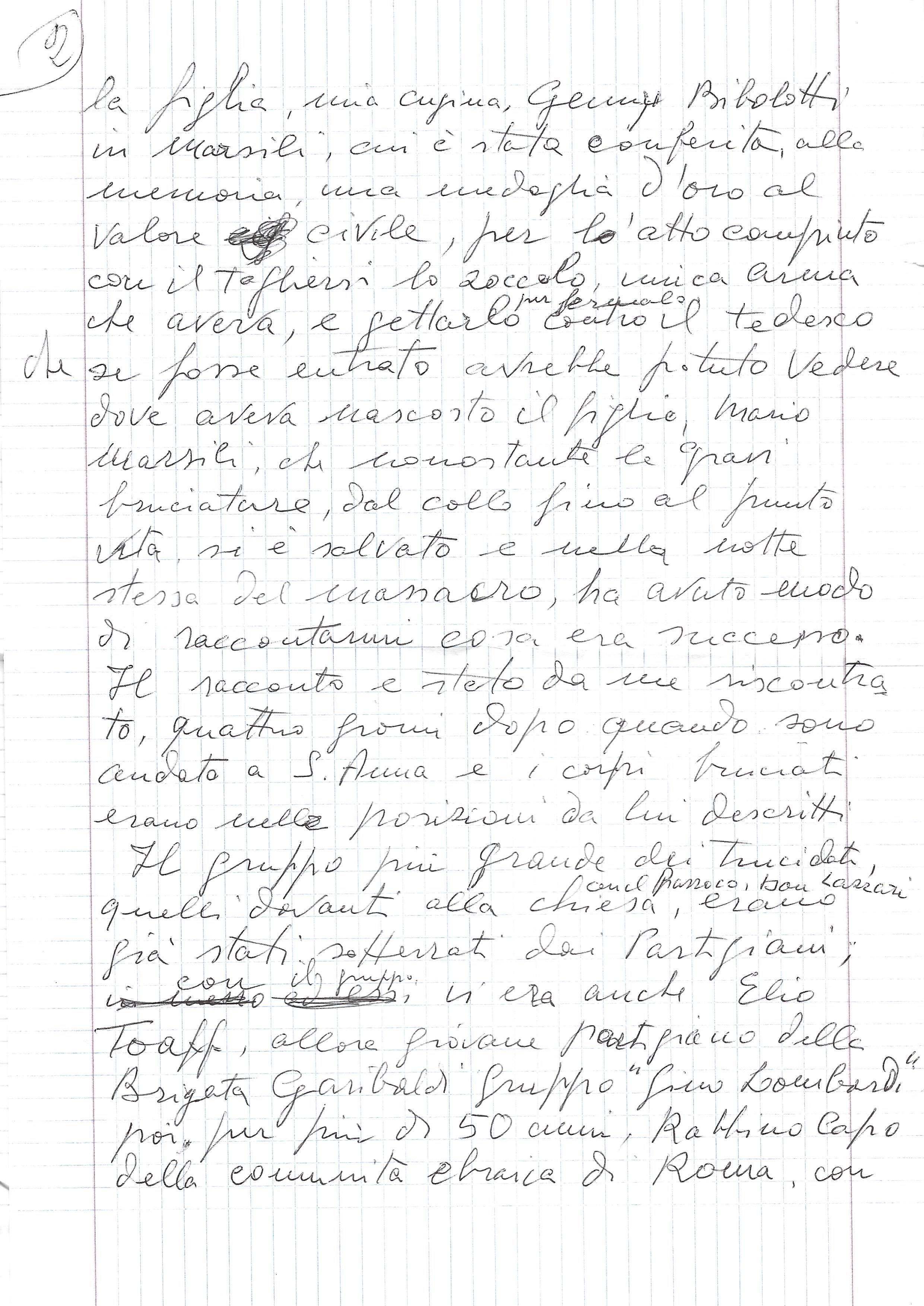 testimonianza di Ivo Maggi (manoscritto pagina 2)
