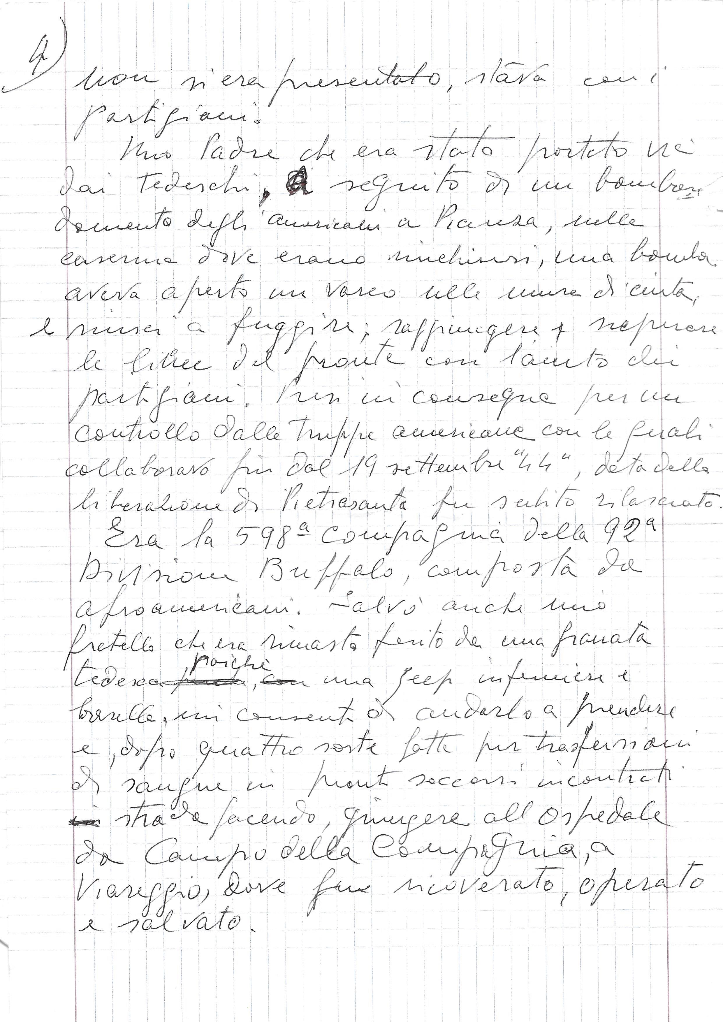 testimonianza di Ivo Maggi (manoscritto pagina 4)